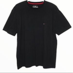 TOMMY HILFIGER Men's Black Short Sleeve T-Shirt